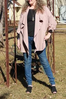 She + Sky Taupe Drape Jacket