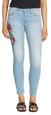 True Religion Halle Floral Embroidered Skinny Jeans $229 thestylecure.com