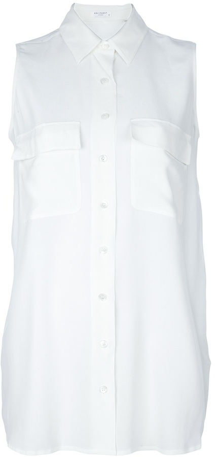 Equipment Sleeveless silk shirt