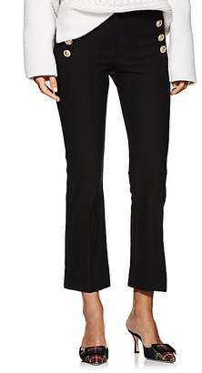 Derek Lam 10 Crosby Women's Button-Detail Stretch-Cotton Crop Flare Pants