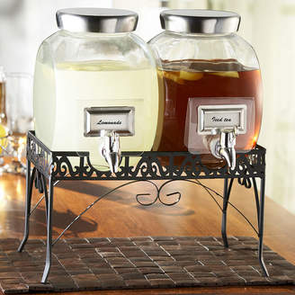 Crystal Clear Williamsburg Double Glass Beverage Dispenser