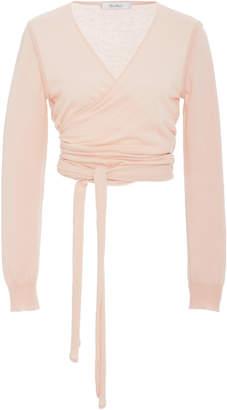 Max Mara Cirino Silk And Cashmere Wrap Top