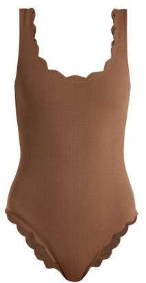 Marysia Swim Palm Springs Scallop Edge Swimsuit - Womens - Brown