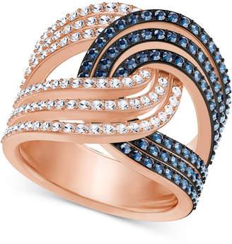 Swarovski Rose Gold-Tone Crystal Knot Ring