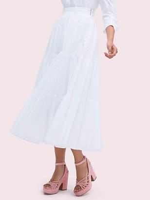 e1efd3efb Kate Spade Poplin Tiered Midi Skirt, Fresh White - Size 0