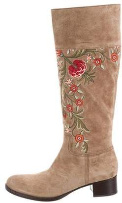 Car Shoe Embroidered Knee-High Boots w/ Tags