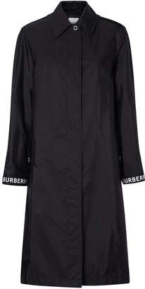 Burberry logo detail car coat