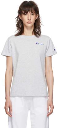 Champion Reverse Weave Grey Small Script Logo T-Shirt