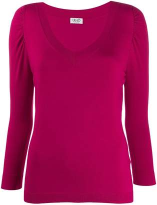 Liu Jo fitted v-neck jumper