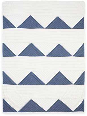 Anchal Project Organic Cotton Slate Triangle Throw