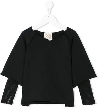 Douuod Kids mesh detail sweatshirt