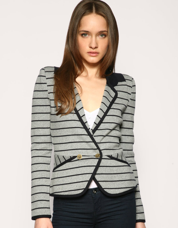 Whistles Knitted Stripe Jacket