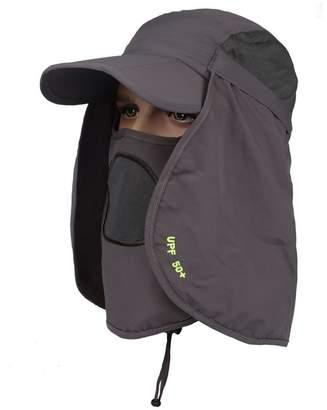 42d3ac2c1bc BeFur Unisex Summer Outdoor UV Protection Visor Sun Flap Cap Neck Face Fishing  Bucket Hat Wide