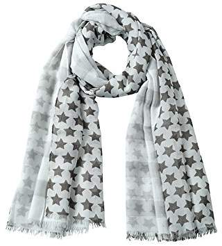 "James & Nicholson Scarf""Stripes and Stars"" Multicolour Light-Grey/Graphite)"
