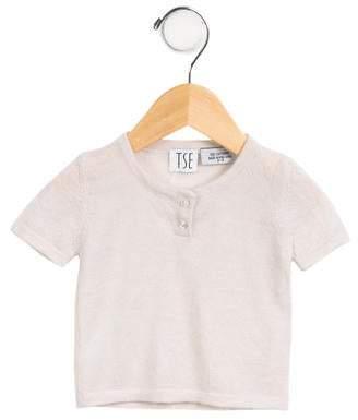 TSE Girls' Short Sleeve Button-Up Top