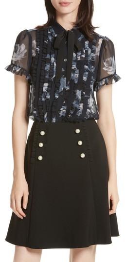 Women's Kate Spade New York Night Rose Short Sleeve Top