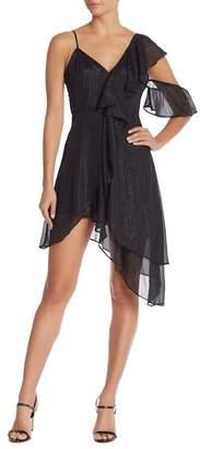 Do & Be Do + Be Asymmetrical Ruffled Midi Dress