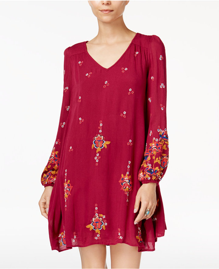 Free People Oxford Embroidered Shift Dress 5