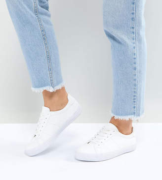 Asos DESIGN DEVLIN Wide Fit Lace Up Sneakers