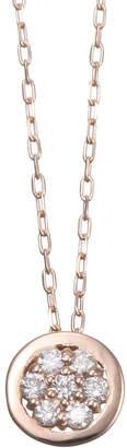 Essenza Diamond Jewelry Selection K18PG ダイヤネックレス 0.07ct