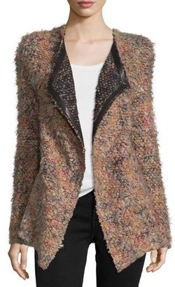 Iro Malvina Open-Front Boucle Jacket, Multicolor $605 thestylecure.com