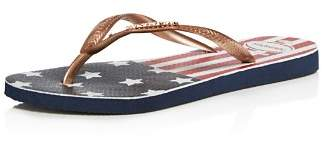 Havaianas Slim USA Glitter Flip-Flops