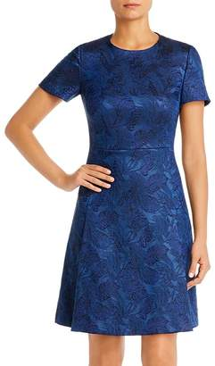 BOSS Dargy Short-Sleeve Jacquard Dress