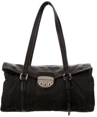 pradaPrada Tessuto & Vitello Shopping Pattina Bag