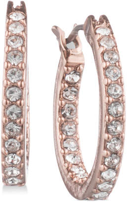 Givenchy Pave Hoop Earrings