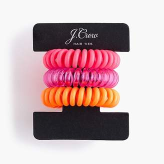J.Crew Spiral hair ties three-pack
