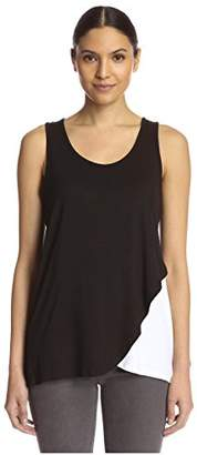 James & Erin Women's Overlap Hem Tank Top