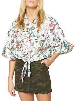 Sanctuary Clover Tie-Hem Shirt