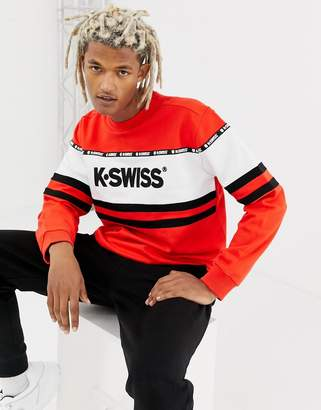 K-Swiss Fresno Panel Sweatshirt In Red
