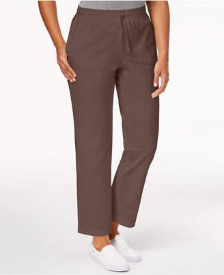 Karen Scott Drawstring Straight-Leg Pants