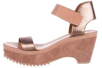 Pedro Garcia Platform Metallic Sandals w/ Tags