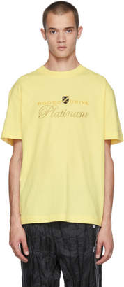 Alexander Wang Yellow Rodeo Drive Platinum T-Shirt