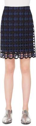 Akris Punto Laser Cut Lace Skirt