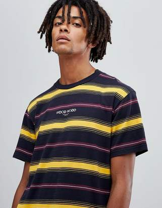 Wood Wood Perry yellow striped t-shirt