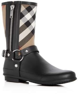 Burberry Women's Zane Signature Check Rain Boots