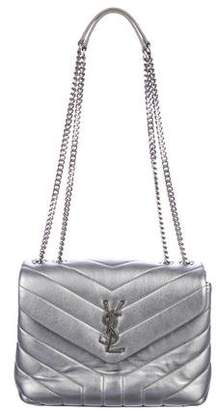 Saint Laurent Metallic Matelassé Small Loulou Bag