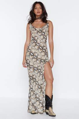 Nasty Gal Snake the Most of It Cowl Dress