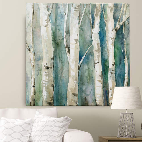 WexfordHome 'River Birch II' by Carol Robinson Painting Print on Wrapped Canvas