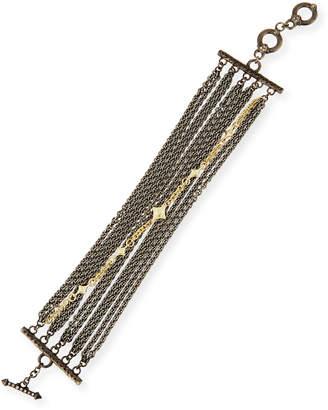 Armenta Old World Multi-Chain Bracelet with Diamonds