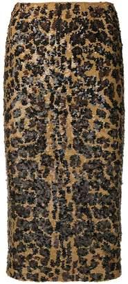 P.A.R.O.S.H. tiger printed pencil skirt