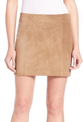 Polo Ralph Lauren Suede Mini Skirt $498 thestylecure.com