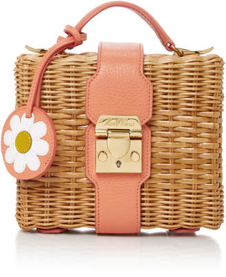 Mark Cross x HVN Harley Leather-Trimmed Rattan Shoulder Bag $2,095 thestylecure.com