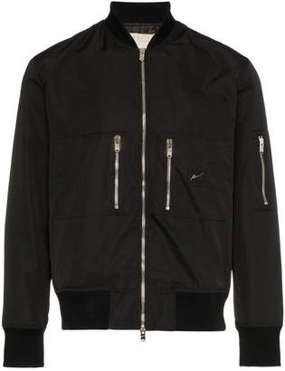 Prevu quilted shell bomber jacket