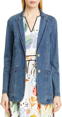 Lafayette 148 New York Boston Denim Jacket