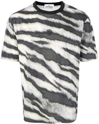 Stone Island zebra printed T-shirt