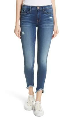 Frame Le Skinny de Jeanne Triangle Hem Jeans